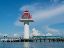 Chinese style lighthouse, Chonburi province Royalty Free Stock Photos