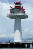Chinese style lighthouse. The chinese lighthouse sea in thailand stock photo