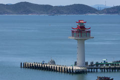 Chinese style lighthouse. At Sichang island,Thailand Royalty Free Stock Photos