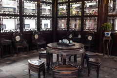 Chinese style living room in He garden, Yangzhou, China Royalty Free Stock Image