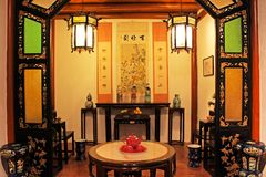 Chinese Style Living Room, Macau, China Stock Photography