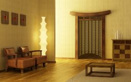 Chinese style lounge room Stock Images