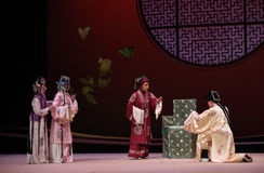 "Chinese style marriage proposal-Kunqu Opera ""the West Chamber"" Royalty Free Stock Photos"