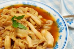 Chinese style mushroom delicacy Royalty Free Stock Images