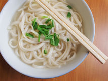 Chinese Style Noodles. Plain Chinese style noodles with chopsticks Royalty Free Stock Photo