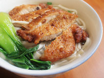 Chinese Style Noodles. With fried pork Royalty Free Stock Photography