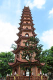 Chinese style pagoda. The public pagoda in vietnam royalty free stock image