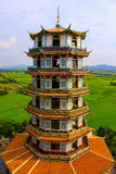 Chinese-style pagoda at temple in Thailand. Stock Photos
