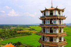 Chinese-style pagoda. at temple in Thailand. Royalty Free Stock Photos