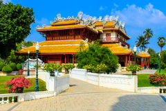 Chinese style palace of Wehart Chamrunt in Bang Pa-In palace, Ay Royalty Free Stock Photo