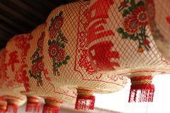 White paper lanterns, Chinese style. stock photography
