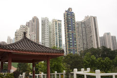 Chinese style park in the city Stock Photos