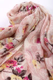 Chinese style pattern made of fabric scarves Royalty Free Stock Images