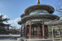Chinese style pavilion. Bicyclic Wanshou Pavilion in Temple of Heaven Stock Photos