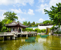 Chinese style pavilion with lake Stock Images