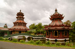 Chinese style pavilion. Royalty Free Stock Photography