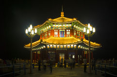 Chinese style pavilion in the night Stock Images