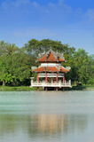 Chinese style pavilion in the park Royalty Free Stock Image