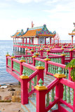 Chinese style pavilion on the seaside Royalty Free Stock Photos