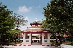 Chinese style pavilion at Wat Ratchaorotsaram temple Bangkok stock photo