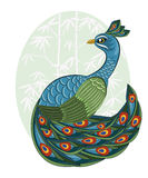 Chinese style peacock Royalty Free Stock Photos