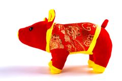 Chinese style pig mascot for new year 2019. Chinese style pig mascot for the new year 2019 royalty free stock photography