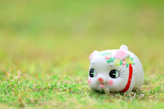 Chinese style piggy bank Royalty Free Stock Photo