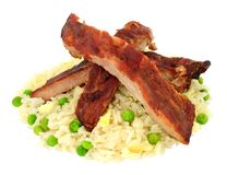 Chinese Style Pork Ribs royalty free stock photo