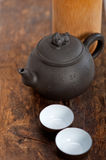 Chinese style pot and cups Stock Photo