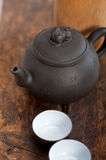 Chinese style pot and cups Stock Images