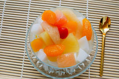 Chinese style pudding fruit has entered a lot Royalty Free Stock Photography