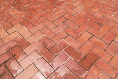 Chinese style red ground brick Stock Images