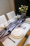 Chinese-style restaurant table Stock Images