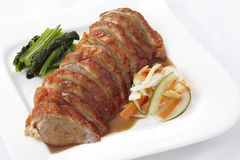 Chinese style roasted duck with sauce Stock Photography