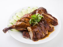 Chinese style roasted duck with soy sauce Stock Photo
