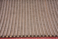Chinese style roof tiles. Royalty Free Stock Images