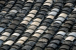 Chinese style roof tiles. Royalty Free Stock Image