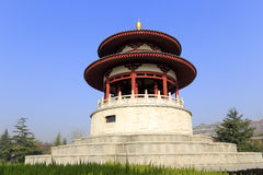 Chinese style round pavilion of datang furong garden Stock Images
