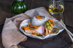 Chinese style salmon Stock Photo