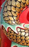 Chinese style scale of dragon on wall of shrine Stock Images