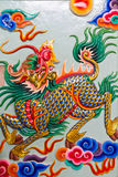 Chinese style sculpture art kilin stock photo