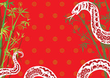 Chinese style snake year design background Royalty Free Stock Images