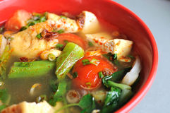 Chinese style spicy vegetable soup Royalty Free Stock Photography