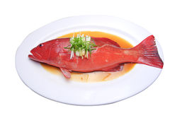 Chinese-style steam fish Stock Photo