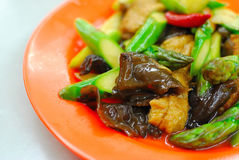Chinese style stir fried asparagus Royalty Free Stock Photo