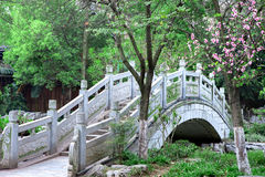 Chinese style stone arch bridge Royalty Free Stock Photos