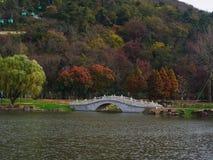 Chinese style stone bridge Stock Image