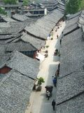 CHINESE-STYLE STREET. This photograph is about  traditional Chinese houses and streets Royalty Free Stock Photos