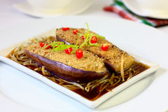 Chinese Style Stuffed Brinjal Stock Image