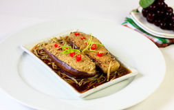 Chinese Style Stuffed Brinjal Royalty Free Stock Photography